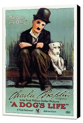 A Dog's Life - 27 x 40 Movie Poster - Style B - Museum Wrapped Canvas