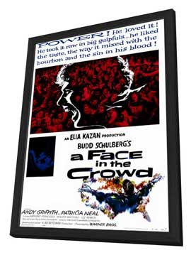 A Face in the Crowd - 27 x 40 Movie Poster - Style A - in Deluxe Wood Frame