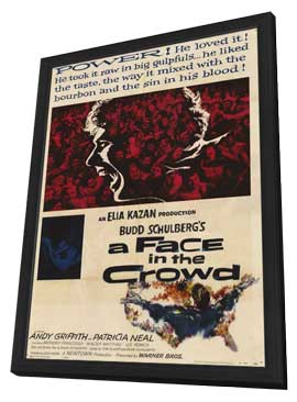 A Face in the Crowd - 11 x 17 Movie Poster - Style A - in Deluxe Wood Frame