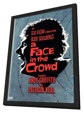 A Face in the Crowd - 27 x 40 Movie Poster - Style C - in Deluxe Wood Frame