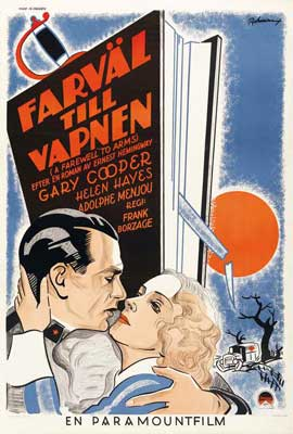 A Farewell to Arms - 27 x 40 Movie Poster - Swedish Style A
