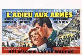 A Farewell to Arms - 27 x 40 Movie Poster - Belgian Style A