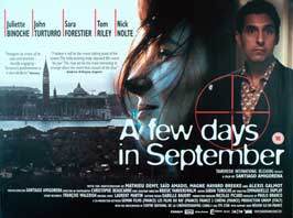 A Few Days in September - 30 x 40 Movie Poster UK - Style A