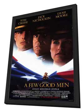 A Few Good Men - 27 x 40 Movie Poster - Style A - in Deluxe Wood Frame