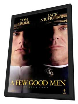 A Few Good Men - 27 x 40 Movie Poster - Style B - in Deluxe Wood Frame