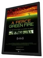 A Fierce Green Fire: The Battle for a Living Planet - 27 x 40 Movie Poster - Style A - in Deluxe Wood Frame