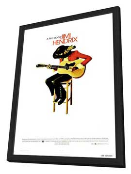 Film About Jimi Hendrix, A - 27 x 40 Movie Poster - Style B - in Deluxe Wood Frame