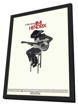 Film About Jimi Hendrix, A - 11 x 17 Movie Poster - Style A - in Deluxe Wood Frame