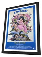 A Fine Mess - 11 x 17 Movie Poster - Style A - in Deluxe Wood Frame