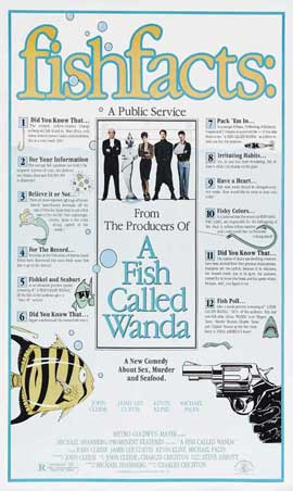 A Fish Called Wanda - 27 x 40 Movie Poster - Style B
