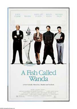A Fish Called Wanda - 27 x 40 Movie Poster - Style E