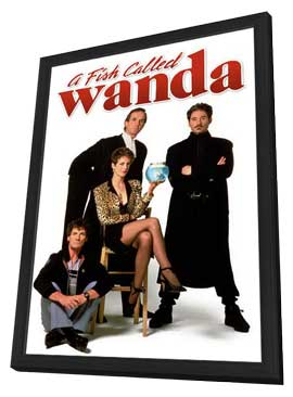 A Fish Called Wanda - 27 x 40 Movie Poster - Style D - in Deluxe Wood Frame