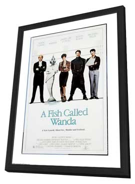 A Fish Called Wanda - 11 x 17 Movie Poster - Style E - in Deluxe Wood Frame