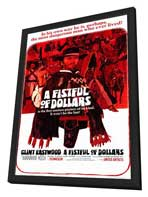 A Fistful of Dollars - 11 x 17 Movie Poster - Style A - in Deluxe Wood Frame