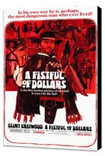 A Fistful of Dollars - 11 x 17 Movie Poster - Style A - Museum Wrapped Canvas