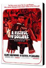 A Fistful of Dollars - 27 x 40 Movie Poster - Style A - Museum Wrapped Canvas