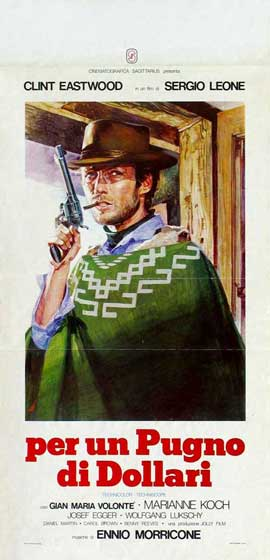 A Fistful of Dollars - 18 x 28 Movie Poster - Italian Style A