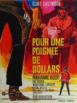 A Fistful of Dollars - 11 x 17 Movie Poster - French Style C