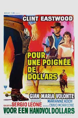 A Fistful of Dollars - 27 x 40 Movie Poster - Belgian Style A