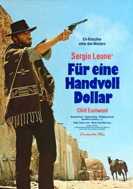 A Fistful of Dollars - 11 x 17 Movie Poster - German Style D