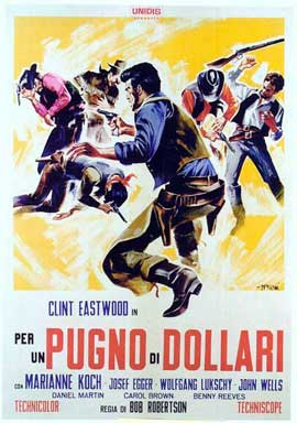 A Fistful of Dollars - 11 x 17 Movie Poster - Italian Style E