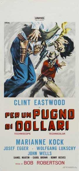 A Fistful of Dollars - 13 x 28 Movie Poster - Italian Style C