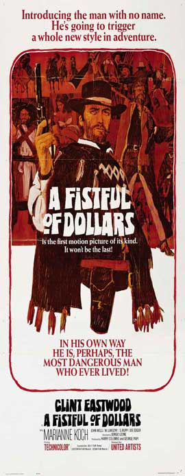 A Fistful of Dollars - 14 x 36 Movie Poster - Insert Style A