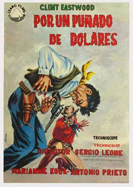 A Fistful of Dollars - 27 x 40 Movie Poster - Spanish Style D
