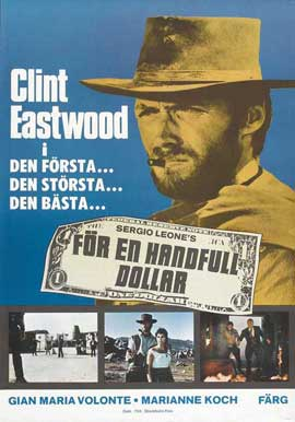 A Fistful of Dollars - 27 x 40 Movie Poster - Swedish Style A