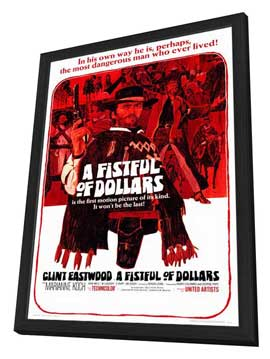 A Fistful of Dollars - 27 x 40 Movie Poster - Style A - in Deluxe Wood Frame