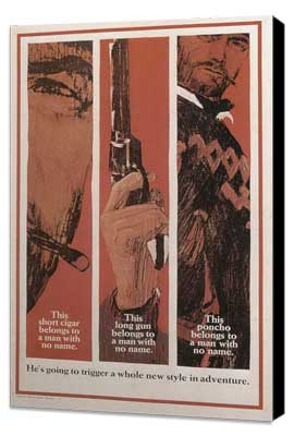 A Fistful of Dollars - 11 x 17 Movie Poster - Style C - Museum Wrapped Canvas