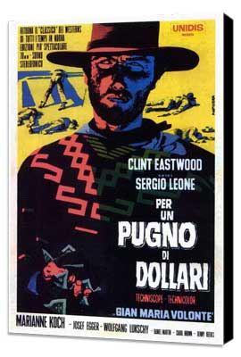 A Fistful of Dollars - 27 x 40 Movie Poster - Italian Style D - Museum Wrapped Canvas