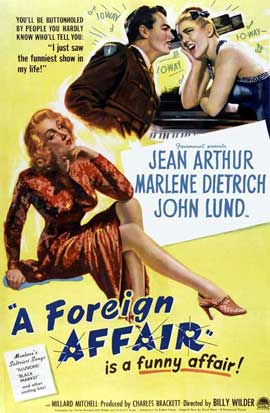 A Foreign Affair - 27 x 40 Movie Poster - Style A