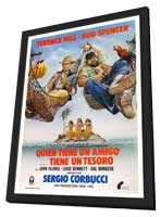 A Friend Is a Treasure - 11 x 17 Movie Poster - Spanish Style A - in Deluxe Wood Frame