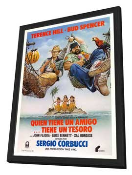 A Friend Is a Treasure - 27 x 40 Movie Poster - Spanish Style A - in Deluxe Wood Frame