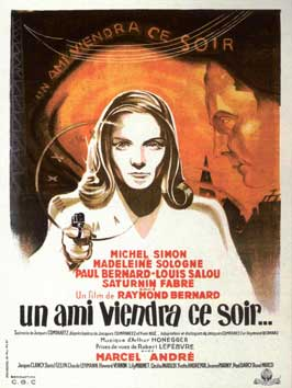 A Friend Will Come Tonight - 27 x 40 Movie Poster - French Style A