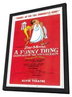 A Funny Thing Happened on the Way to the Forum (Broadway) - 11 x 17 Poster - Style A - in Deluxe Wood Frame