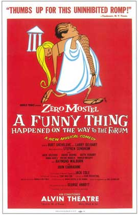 A Funny Thing Happened on the Way to the Forum (Broadway) - 14 x 22 Poster - Style A