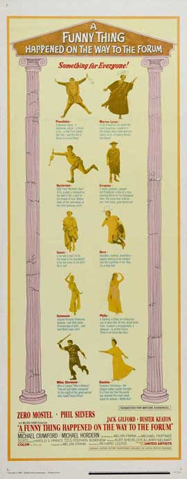A Funny Thing Happened on the Way to the Forum - 14 x 36 Movie Poster - Insert Style A