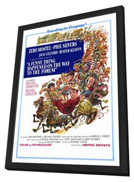 A Funny Thing Happened on the Way to the Forum - 11 x 17 Movie Poster - Style A - in Deluxe Wood Frame