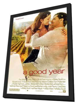 A Good Year - 27 x 40 Movie Poster - Style D - in Deluxe Wood Frame
