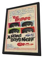 A Hard Day's Night - 14 x 36 Movie Poster - Insert Style A - in Deluxe Wood Frame