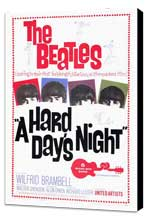 A Hard Day's Night - 27 x 40 Movie Poster - Style A - Museum Wrapped Canvas
