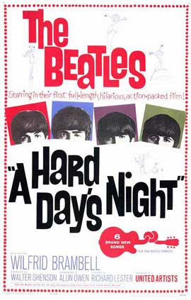 A Hard Day's Night - 11 x 17 Movie Poster - Style A