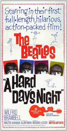 A Hard Day's Night - 11 x 17 Movie Poster - Style F