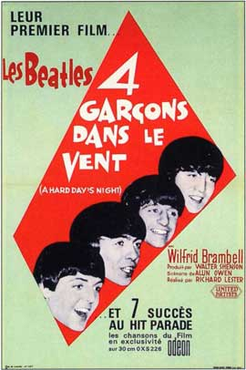 A Hard Day's Night - 11 x 17 Movie Poster - French Style A