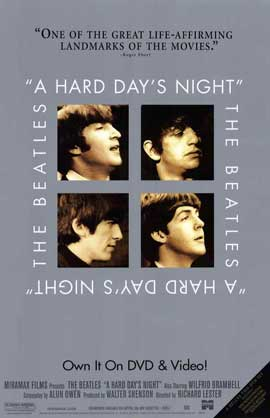 A Hard Day's Night - 11 x 17 Movie Poster - Style G