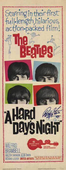 A Hard Day's Night - 14 x 36 Movie Poster - Insert Style A