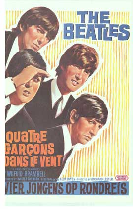 A Hard Day's Night - 14 x 22 Movie Poster - Belgian Style A