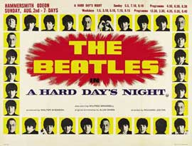 A Hard Day's Night - 22 x 28 Movie Poster - UK Style A